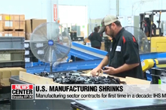 U.S. manufacturing shrinks for first time in a decade: IHS Markit