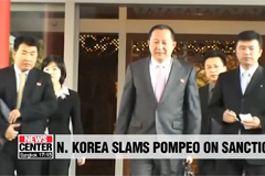 N. Korea's FM slams Pompeo for saying sanctions will stay