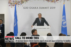 UN Secretary General urges S. Korea and Japan to mend ties for stability of region