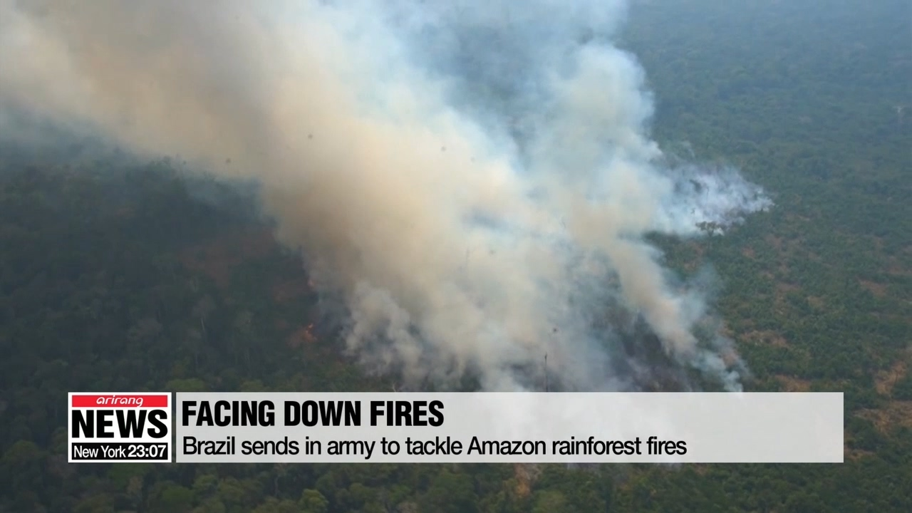 Brazil sends in army to tackle Amazon rainforest fires