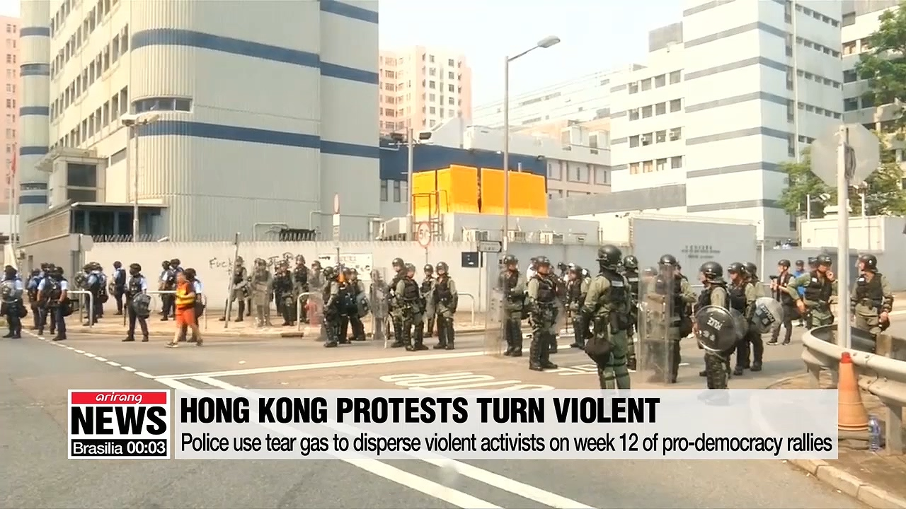 Pro-democracy rally in Hong Kong turns violent over the weekend