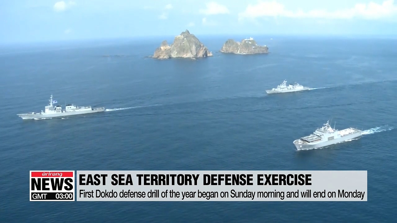 South Korean military begins their bi-annual maritime drills for the defense of Dokdo