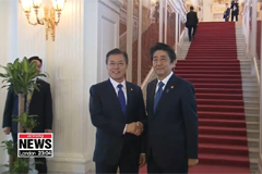 Japanese PM Shinzo Abe calls for S. Korea, Japan to rebuild trust, keep promises