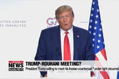Trump says he's ready to meet Iran's president to solve nuclear impasse