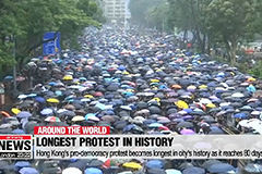 Hong Kong's pro-democracy protest becomes longest in city's history as it reaches 80 days
