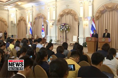 Moon express strong support for multilateral trade mechanism, saying it is duty for S. Korea and Thailand