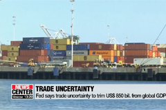 Fed says trade uncertainty to trim US$ 850 bil. from global GDP