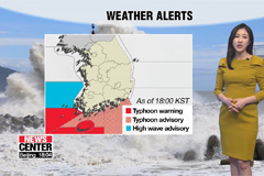 Typhoon alerts issued in the southern sea