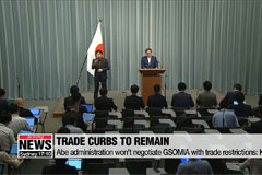 Abe administration not to accept negotiating GSOMIA with trade restrictions: Kyodo