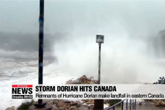 Hurricane Dorian makes landfall in Canada