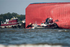 All four crew members trapped inside the cargo ship that capsized off the coast of Georgia have been rescued