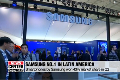 Samsung's smartphone has number one market share in Latin America during Q2 this year