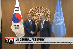 Moon to attend UN General Assembly and meet with Trump