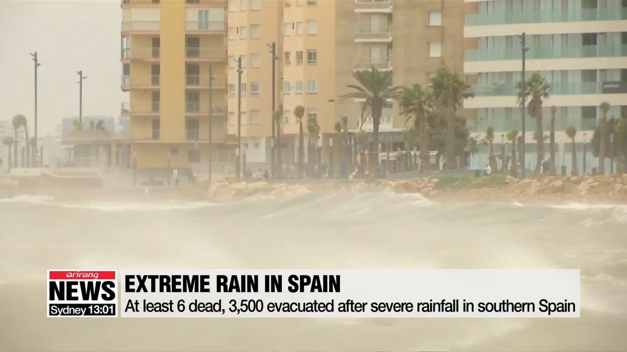 At least 6 dead, thousands displaced by severe rain in Spain