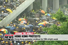 Hong Kong protests continue for 15th straight week