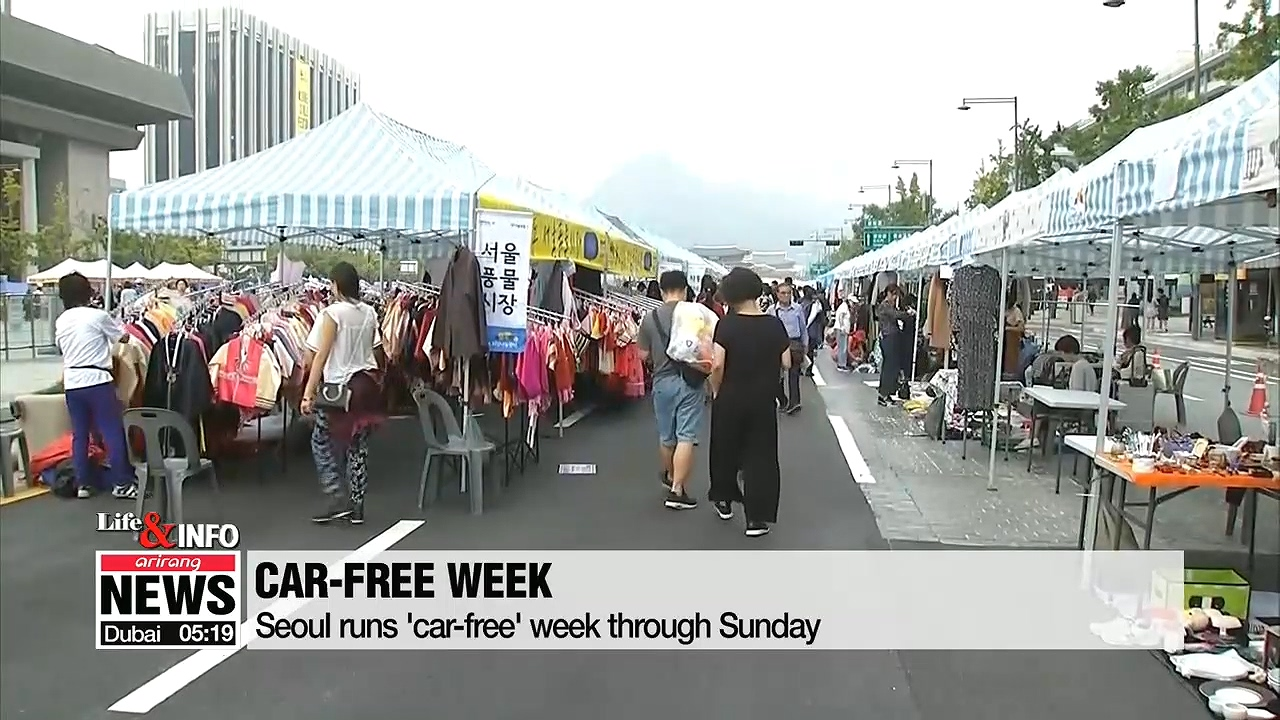 Seoul runs 'car-free week' through Sunday