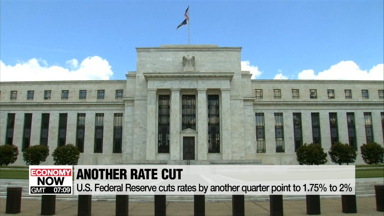 U.S. Federal Reserve cuts rates by quarter point; Bank of Korea to monitor external situation