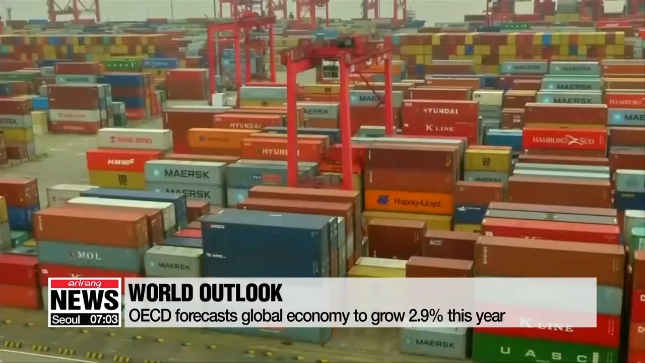 OECD cuts S. Korea's 2019 economic outlook to 2.1% from previous estimate of 2.4%