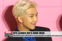 RM of BTS donates US$ 84,000 for musical education for students with hearing impairments