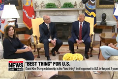 President Trump says his good relationship with Kim Jong-un is the 'best thing' that has happened to U.S. in the past 3 years