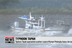 S. Korea raises typhoon alert status to second highest level as Tapah approaches