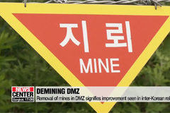 Removal of mines from DMZ signifies improvement in inter-Korean relations