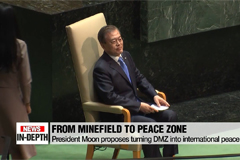 President Moon proposes turning DMZ into international peace zone
