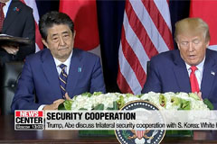 Trump, Abe discuss trilateral security cooperation with S. Korea: White House