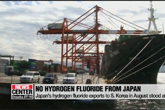 Zero exports of hydrogen fluoride from Japan to S. Korea in August
