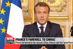 France bids farewell to late Jacques Chirac, Macron calls him