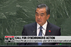 China's FM calls on U.S. to 'synchronize action' with N. Korea to reach political settlement