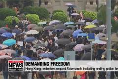 Hong Kong protesters mark 5th anniversary of Umbrella Movement in face of water cannons