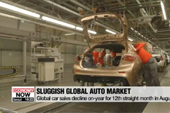 Global auto market in negative territory for 12 consecutive months