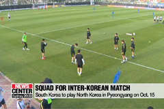 Squad named for inter-Korean football match in Pyeongyang