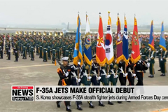 S. Korea showcases F-35A stealth fighter jets during Armed Forces Day ceremony