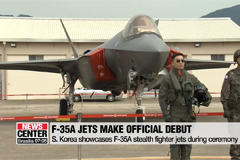 S. Korea celebrates 71st Armed Forces Day, showcases F-35A jets to public for first time