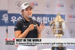 S. Koreans golfers fill top 3 spots in women's golf rankings for first time