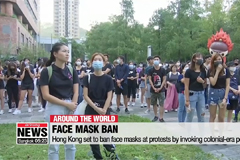 Hong Kong set to ban face masks at protests by invoking colonial-era powers