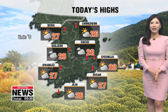 Mostly sunny skies with warm highs