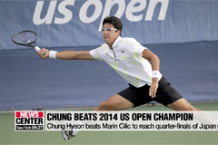 Chung Hyeon beats 2014 US Open