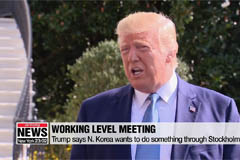 Trump says N. Korea wants to d