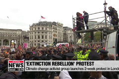 Climate change activist group Extinction Rebellion launches 2-week protest in London