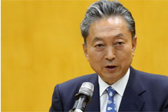 Former Japanese PM Hatoyama pays respect to Korean victims of forced labor