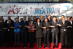 ASEAN-Korea train celebrates thirty years of friendship between S. Korea, ASEAN nations
