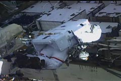 Two American astronauts complete first all-women spacewalk