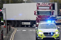 N. Irish driver arrested for murder after 39 bodies found in refrigerated truck trailer in Essex