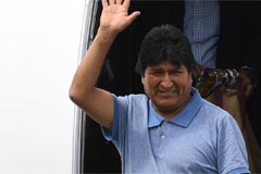 Bolivia's ousted president Evo Morales lands in Mexico City after being granted asylum