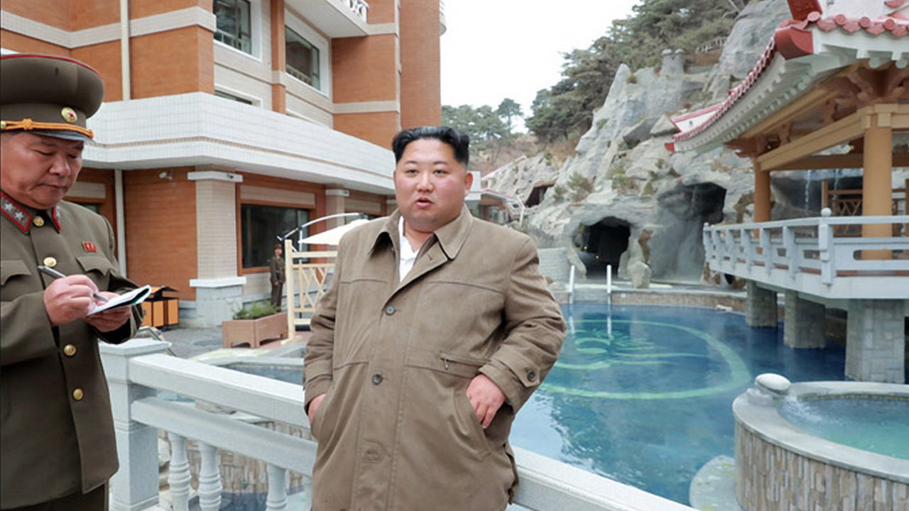 N. Korean leader inspects spa resort and demands its perfection