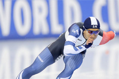 Kim Jun-ho wins men's 500m gold at Speedskating World Championships in Minsk
