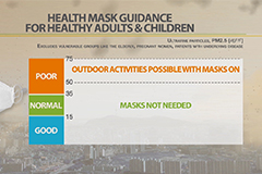 Health masks not necessary for